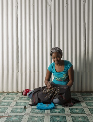 Beader Thando Ntobela of Ubuhle. Photo: Jac de Villiers. Stylist: Liane Visser.