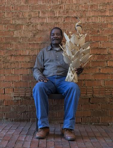 Sculptor Widus Mtshali. Photo: Jac de Villiers. Stylist: Liane Visser.