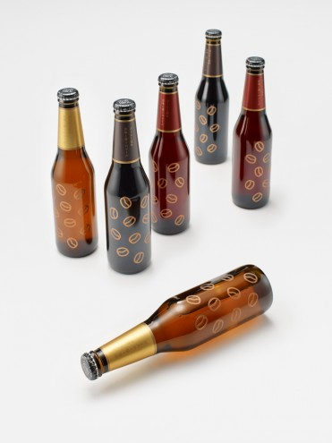 Coffee Beer bottle design by Nendo. Photo: Hiroshi Iwasaki.