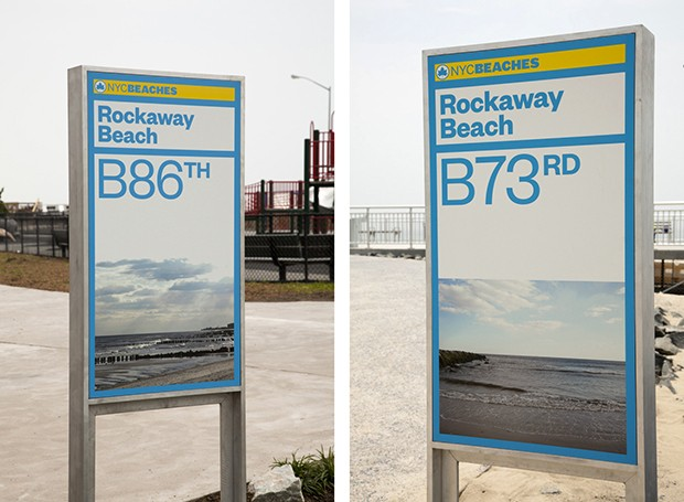 New York Beach Signs by Paula Scher.