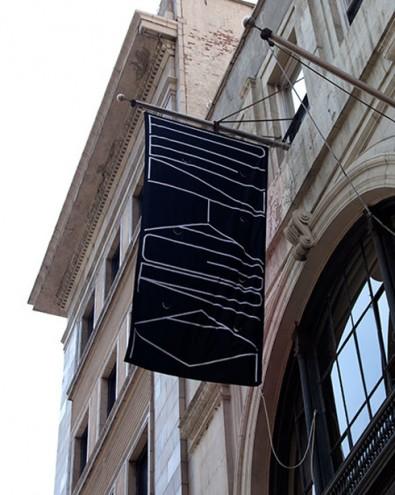 Pentagram banner by Michael Bierut.