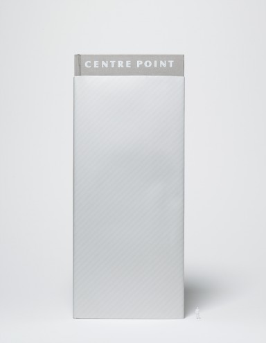 Centre Point book dustjacket by Hat-trick.