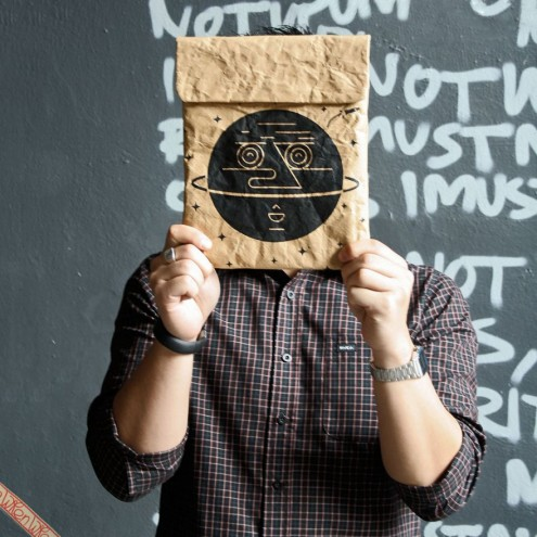 Daniel Ting Chong for Brown Paper iPad/Tablet Sleeve by WREN design.
