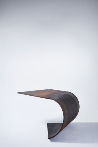 """Paul Cocksedge: CAPTURE"", Poised table by Paul Cocksedge."