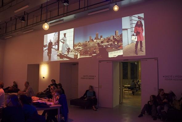 Projections of images from Sharp Sharp at La Gaîté Lyrique in Paris