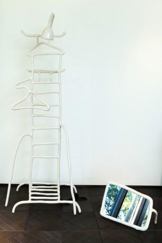 Maarten Baas' valet and feet mirror for Berluti. Images: Berluti and Carpenters Workshop Gallery.