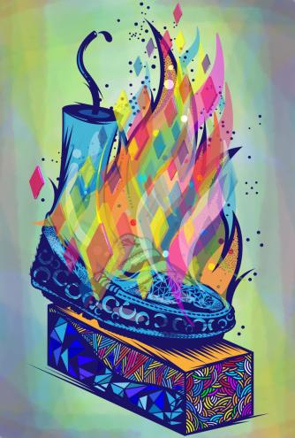 Graphic work by Lazi Mathebula.