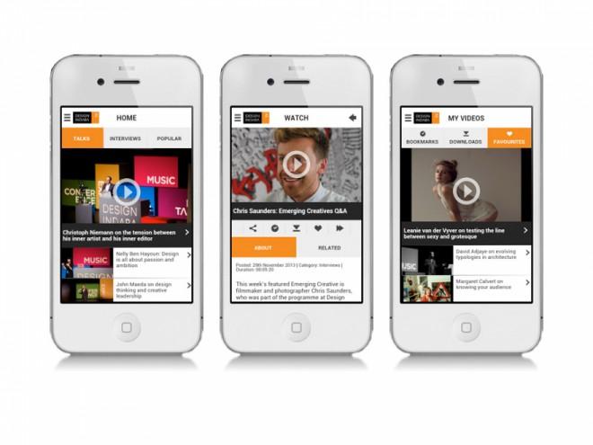 Design Indaba TV App on a smartphone