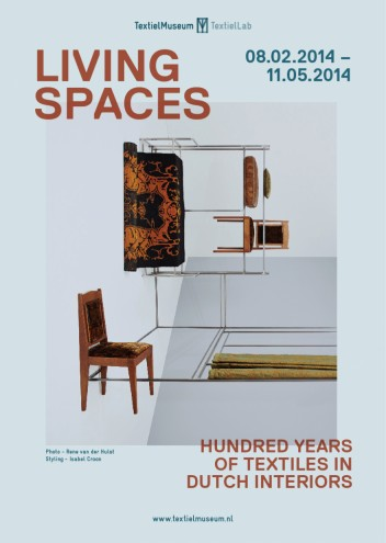 Living Spaces exhibition poster.