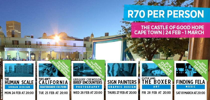 Design Indaba FilmFest 2014 at the Castle of Good Hope from 24 February - 1 March