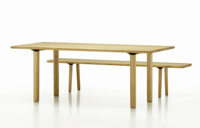 Wood Table and Bench by BarberOsgerby.