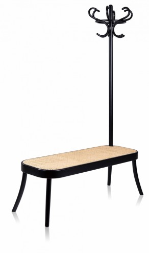 Coat Rack and Bench by Front.
