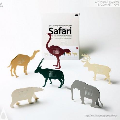 """A' Design Award & Competition: Calendar 2013 """"Safari"""" by Katsumi Tamura."""