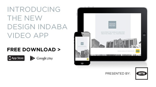 Design Indaba video app presented by MTN