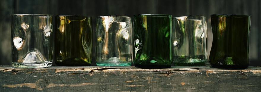 Jesper Jensen's fire-polished recycled glasses.