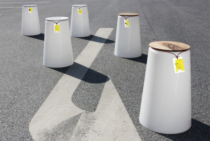 Statthocker stool by Oliver Bahr and Bastian Demmer.