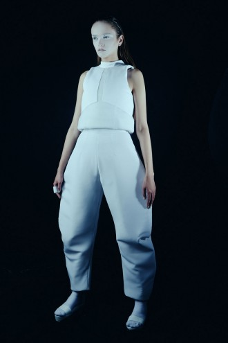 Renee Nicole Sander's graduation fashion collection inspired by ice glaciers.