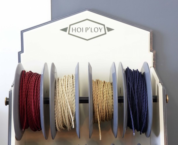 Hoi P'loy's selection of fabric cable cords. Image: Henk Hatting.