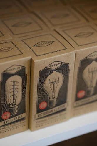Hoi P'loy's selection of vintage-inspired light bulbs. Image: Henk Hatting.