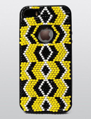 Xhosa-inspired beadwork iPhone case by Vukile Batyi and Laduma Ngxokolo.