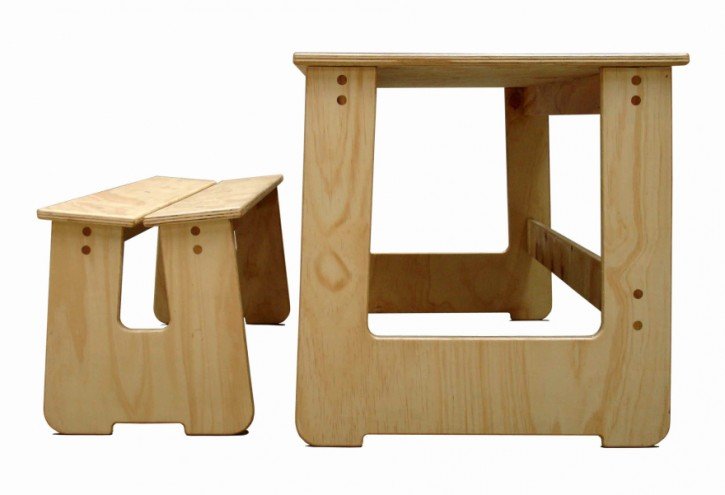 School table and bench by Studio Propolis.