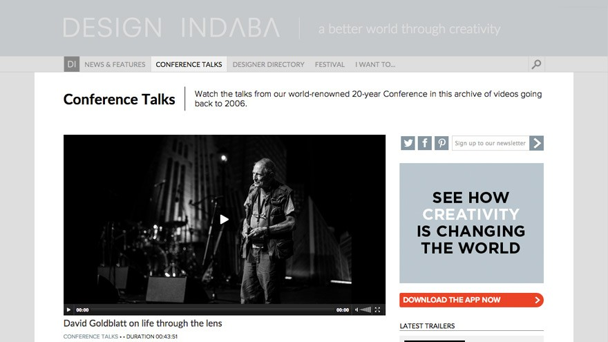 Conference Talks page