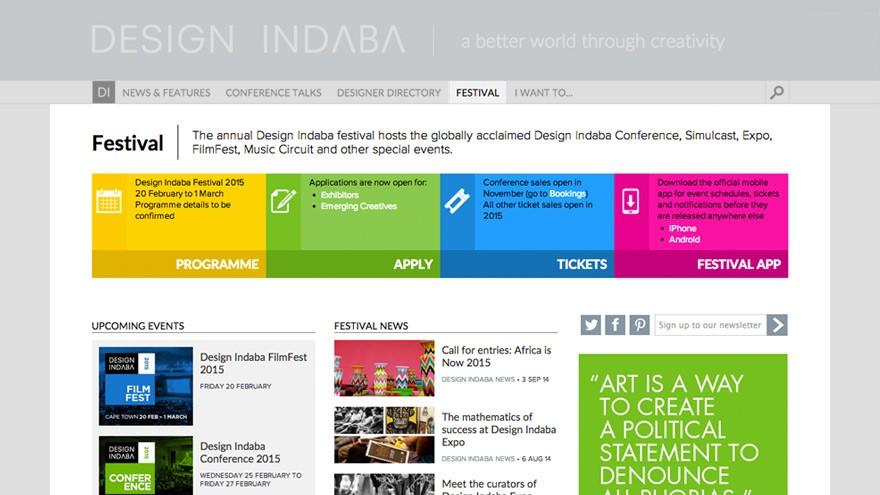 Design Indaba Festival page