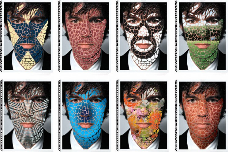 """Stefan Sagmeister Covers from his boxed book set """"Things I Have Learned,"""" published by Abrams."""