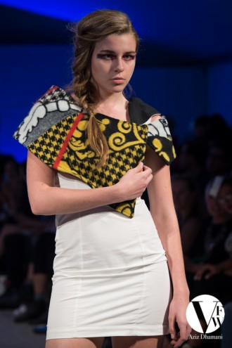 "Thabo Maktha Designs' ""Kobo Ea Bohali"" collection at Vancouver Fashion Week 2014."