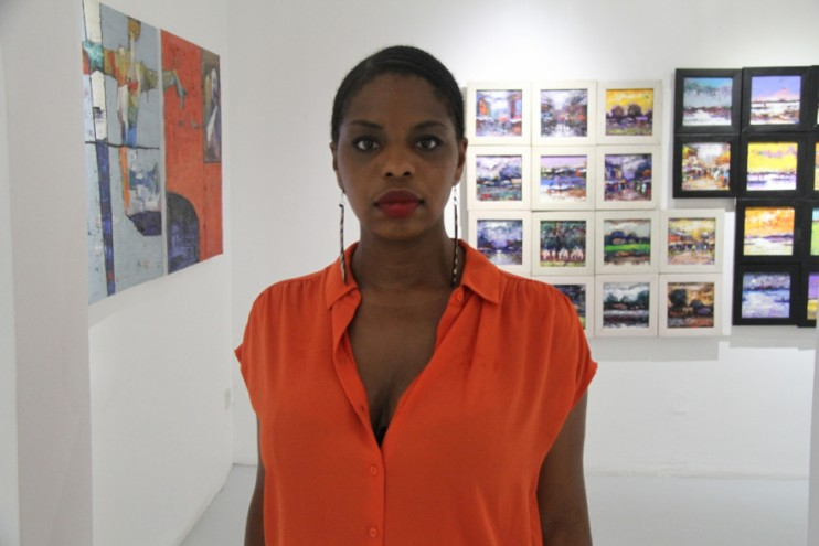 Segun Aiyesan's painting show was curator Zina Saro-Wiwa's second exhibition at her gallery space.
