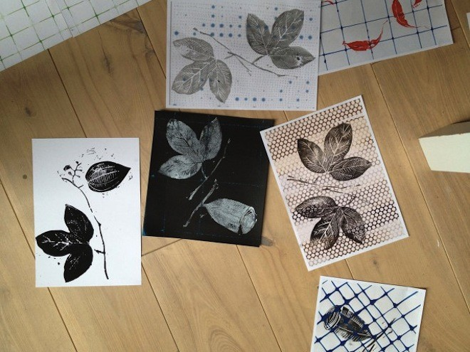 Blockprinting for Eden fabric range.