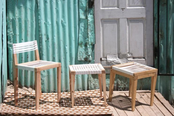 2015 Emerging Creative Bonga Jwambi's chairs and stools.