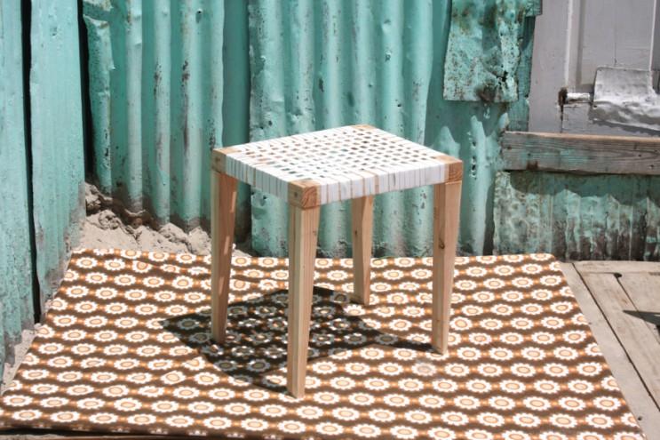 2015 Emerging Creative Bonga Jwambi's criss cross stool.