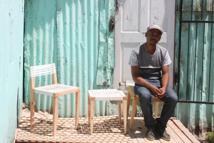 2015 Emerging Creative Bonga Jwambi with his furniture.
