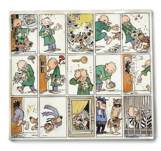 Bill Watterson's first cartoon strip for 19 years features a newspaper subscriber who wants to read the funny pages.