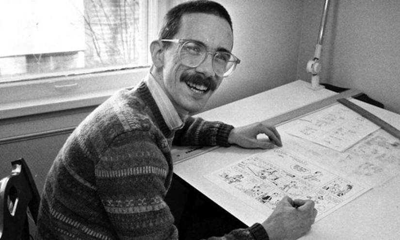 Media shy cartoonist Bill Watterson in 1986.