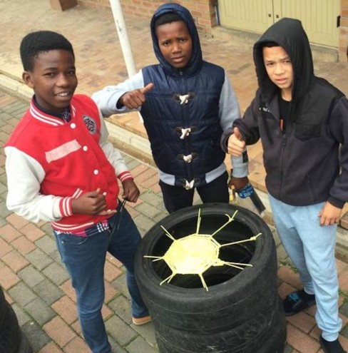Shift teaches people to make seats from old tyres.