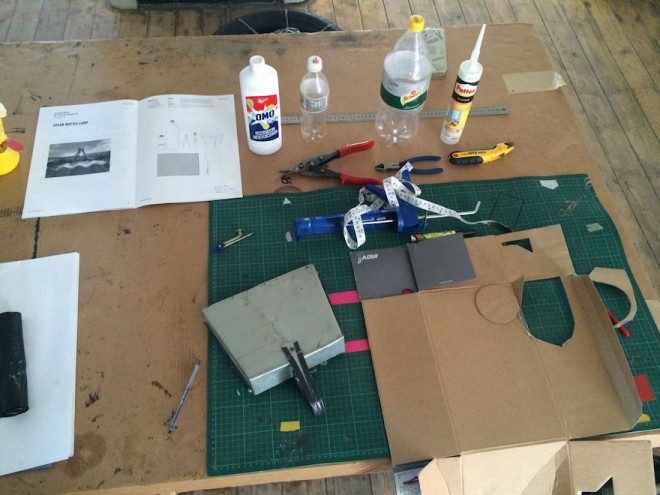 Making a solar lamp from scratch.