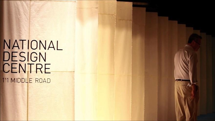 "Lighting installation ""Layers of Light"" by design studio Nipek at Singapore Design Week."