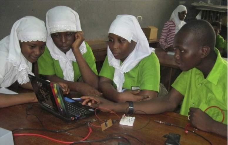 Students from Tamale Islamic Senior High School also took part in the light sciences workshop.