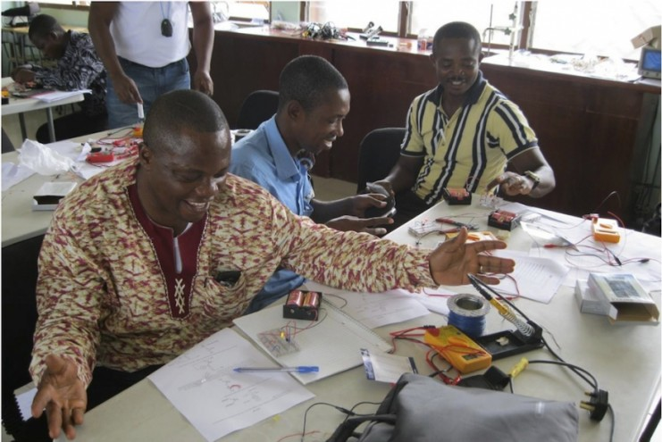 Teachers from Ghana's Science Colleges of Education at the workshop.