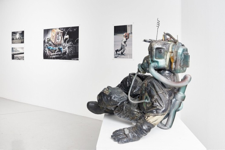 "Installation view of ""Post African Futures"" exhibition curated by Tegan Bristow at the Goodman Gallery in Johannesburg."