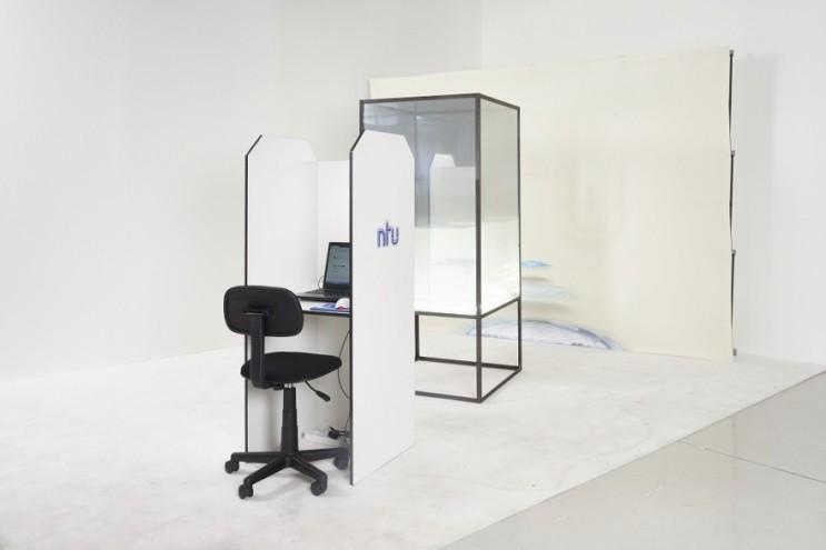 """""""Swaartnet"""" installation, 2015 by NTU."""