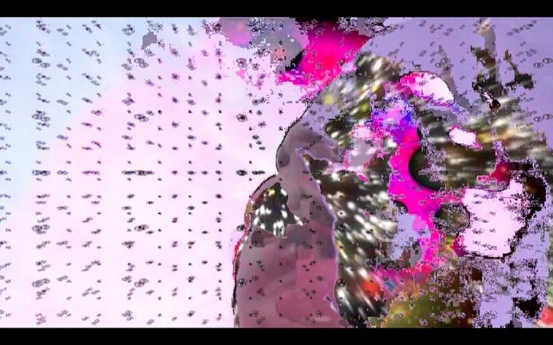 """I am sky"", 2013, digital video, colour, sound, by Dineo Seshee Bopape."