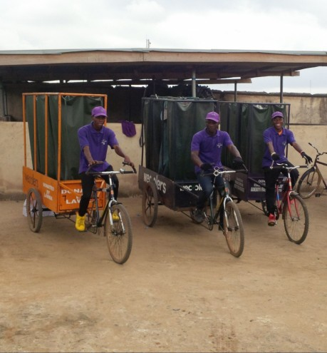 Wecycle is a fleet of bicycles are cleaning up the densely populated and polluted city of Lagos.