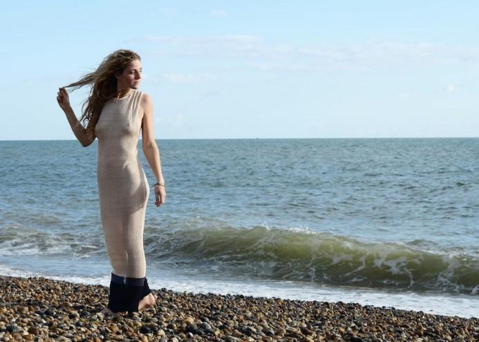 Brighton design brand Milkweed creates biodegradable, sustainable, unisex knitwear from local, organic yarn. Image: Milkweed