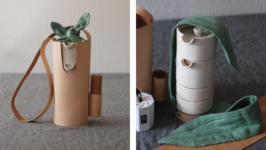 Mosey is a portable tea set designed by Jie Chen to preserve the traditional Chinese tea ceremony in the modern world.