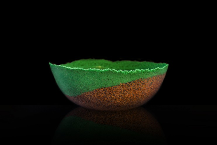 Wael Seaiby, a graduate of the University of Edinburgh, has designed Plag, a series of glass and ceramic looking vessels made from recycled plastic.