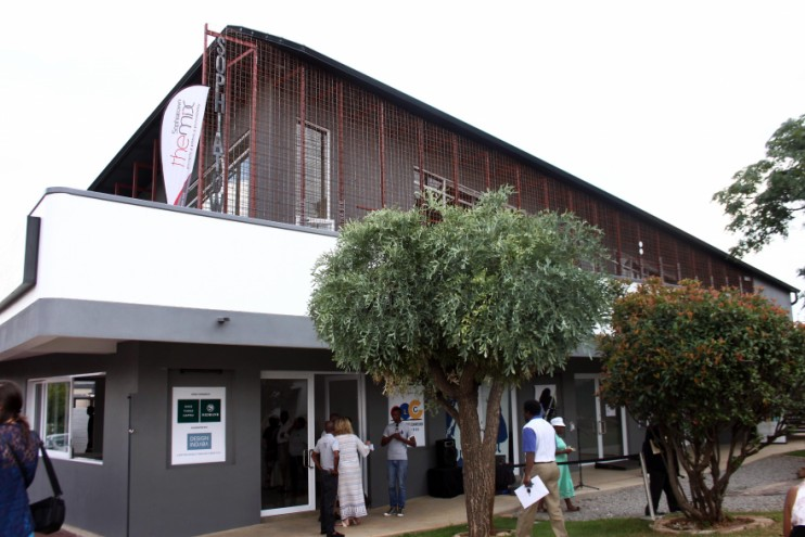 The Sophiatown Remembrance Screen designed by Local Studio, a South African architecture firm founded by Thomas Chapman,