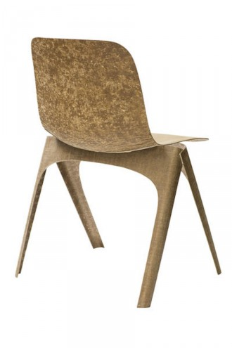 Dutch designer Christien Meindertsma proves furniture can carry both stylistic and ecological integrity with her Flax Chair
